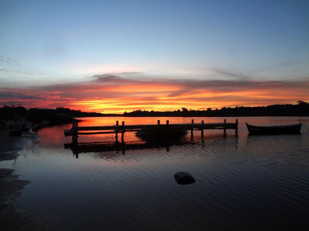 magischer Sonnenuntergang in Uruguay
