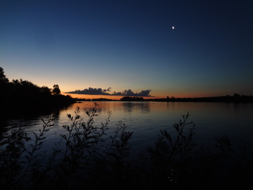 Sonnenuntergang Esteros de Farrapaos y Isals de Uruguay