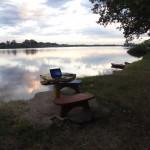 Fluss Rio Negro Uruguay in der Stadt Mercedes