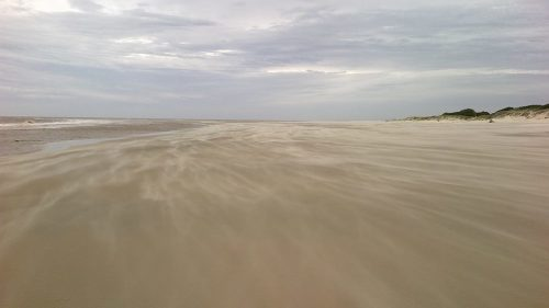 Pampero am Strand