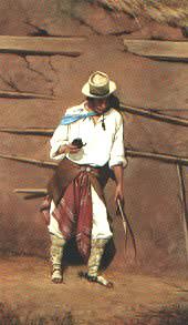 Gaucho bei der Arbeit - Gemälde