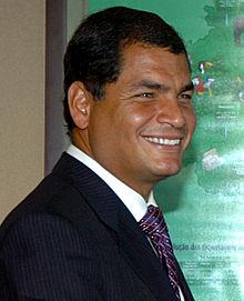 Rafael Correa Präsident Ecuador
